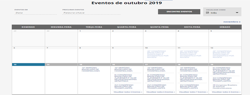Sindicato conta com calendário nacional de eventos em medicina.