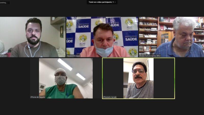 Diretoria do Sindmed-AC se reúne com Alysson e reivindica melhorias condições de trabalho direitos dos médicos