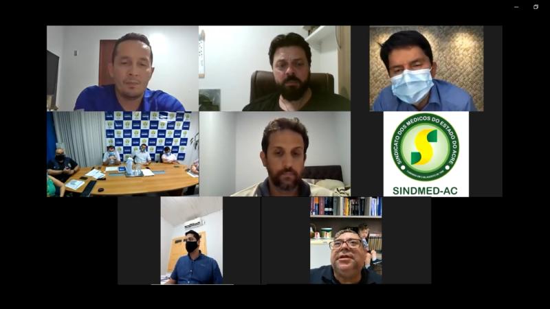 Sindmed-AC reúne Sintesac, parlamentares e Sesacre para debater a tercerização no Huerb