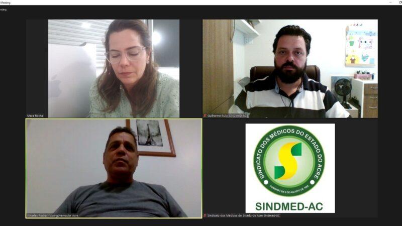 Sindmed-AC pede apoio de Mara Rocha para pedir recursos para construção do HU
