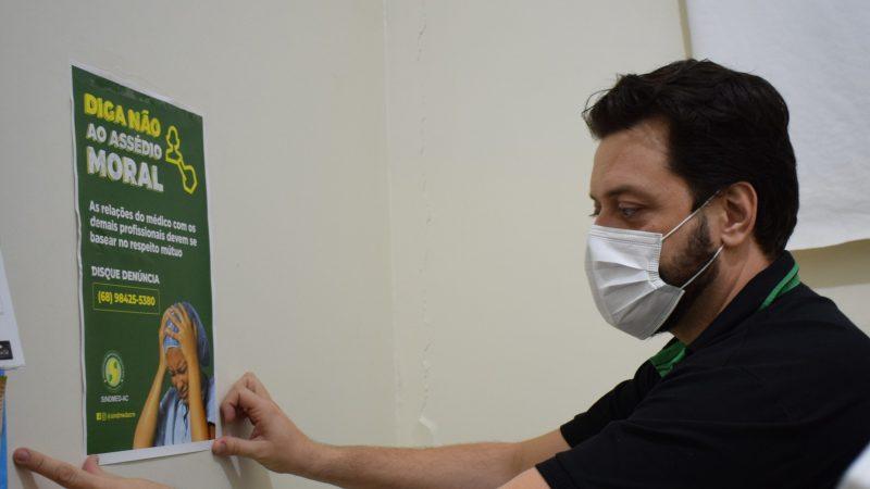 Sindmed-AC inicia campanha contra o assédio e de proteção do médico
